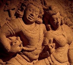 Isurumuniya Lovers - Rock Carvings in Anuradhapura, Sri Lanka